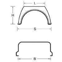 thumb-Kunststof spatschermen X-Gard serie (Flat Top)-2