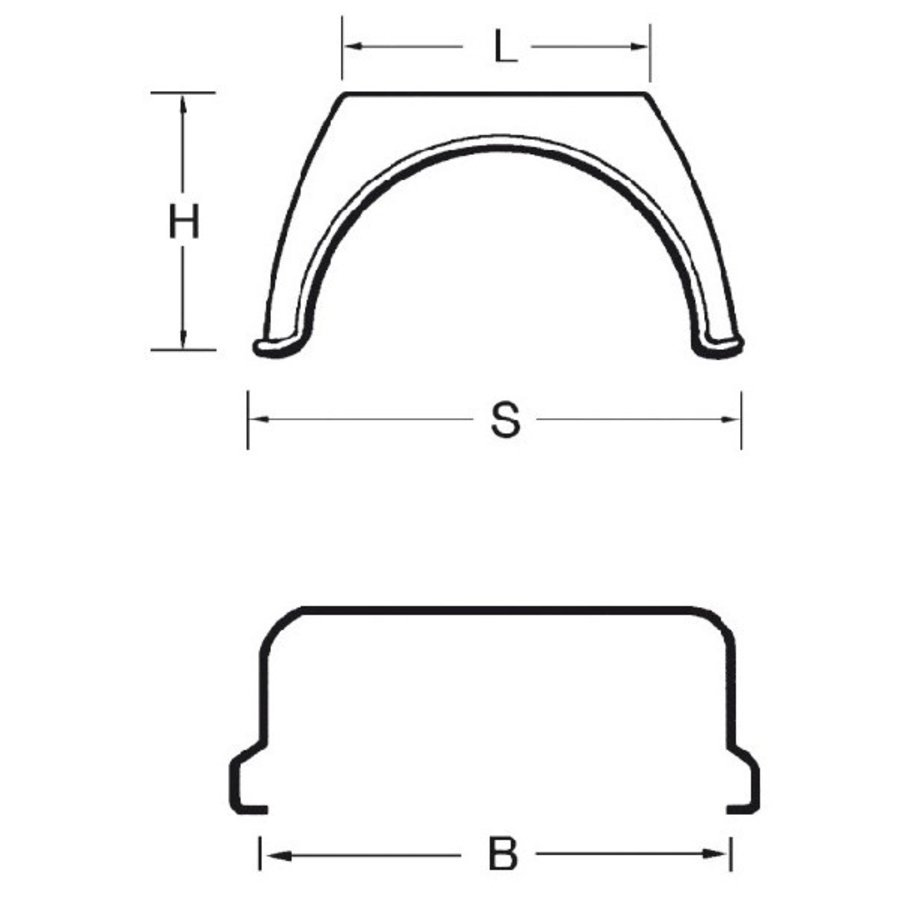 Kunststof spatschermen X-Gard serie (Flat Top)-2