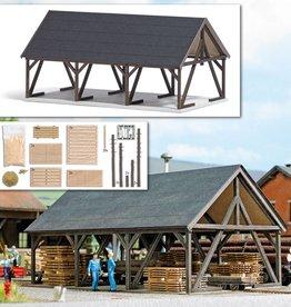 Busch Busch 1677 Holzlager mit Zubehör ( Echtholz Bausatz )