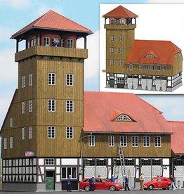 Busch Busch 1450 Feuerwehrhaus Schweningen ( Echtholz Bausatz )