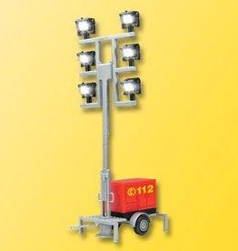 Viessmann 1344 H0 Leuchtgiraffe Feuerwehr auf Anhänger mit 6 LEDs weiß