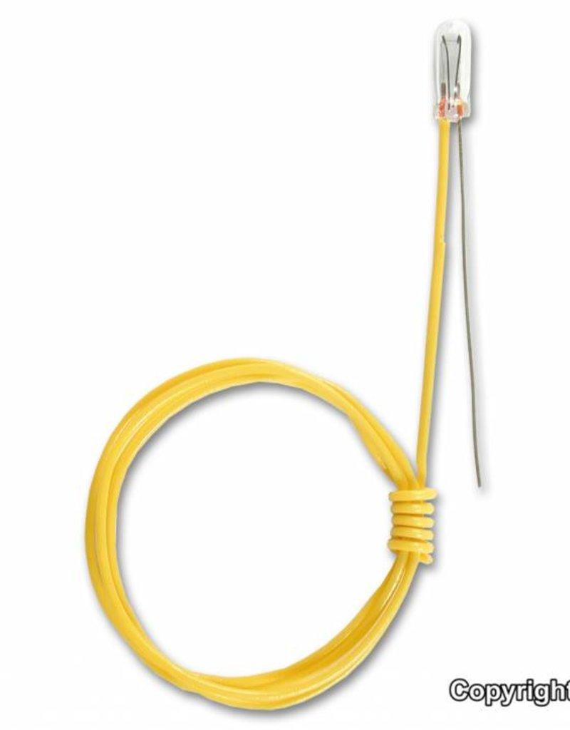 Viessmann 6229 Glühlampe klar T 3/4, Ø 2,3 mm, 16 V, 30 mA, 1 Kabel, 1 blanker Draht