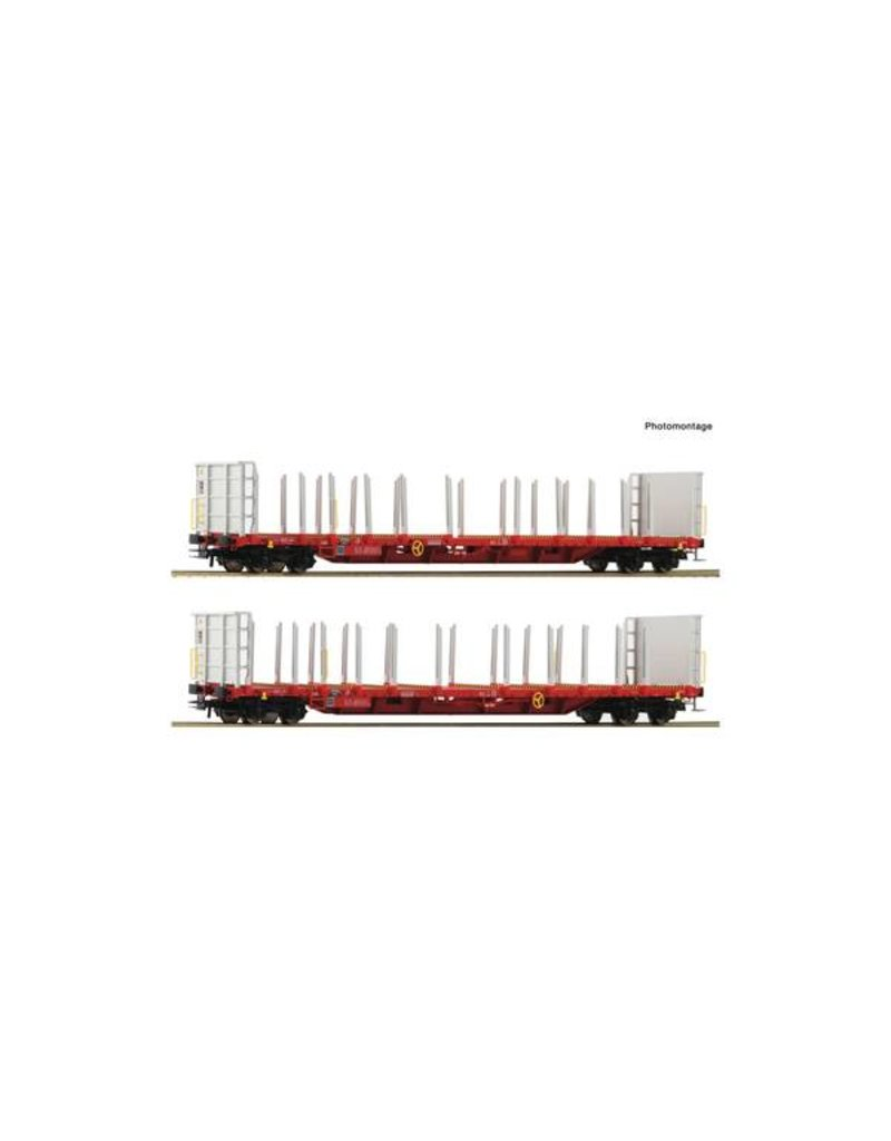 Roco Roco 76142 2er Set Rungenwagen RCW H0