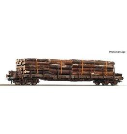 Roco Roco 76777 Rungenwagen 4a.+Holzbeladung