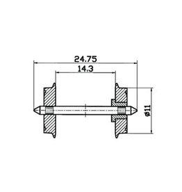 Roco Roco 40198 Radsatz eins.isol. 11mm   1 Pa