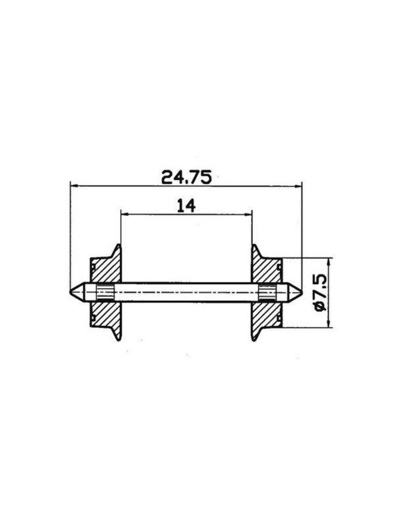 Roco AC Radsatz  Paar 7,5mm     (40