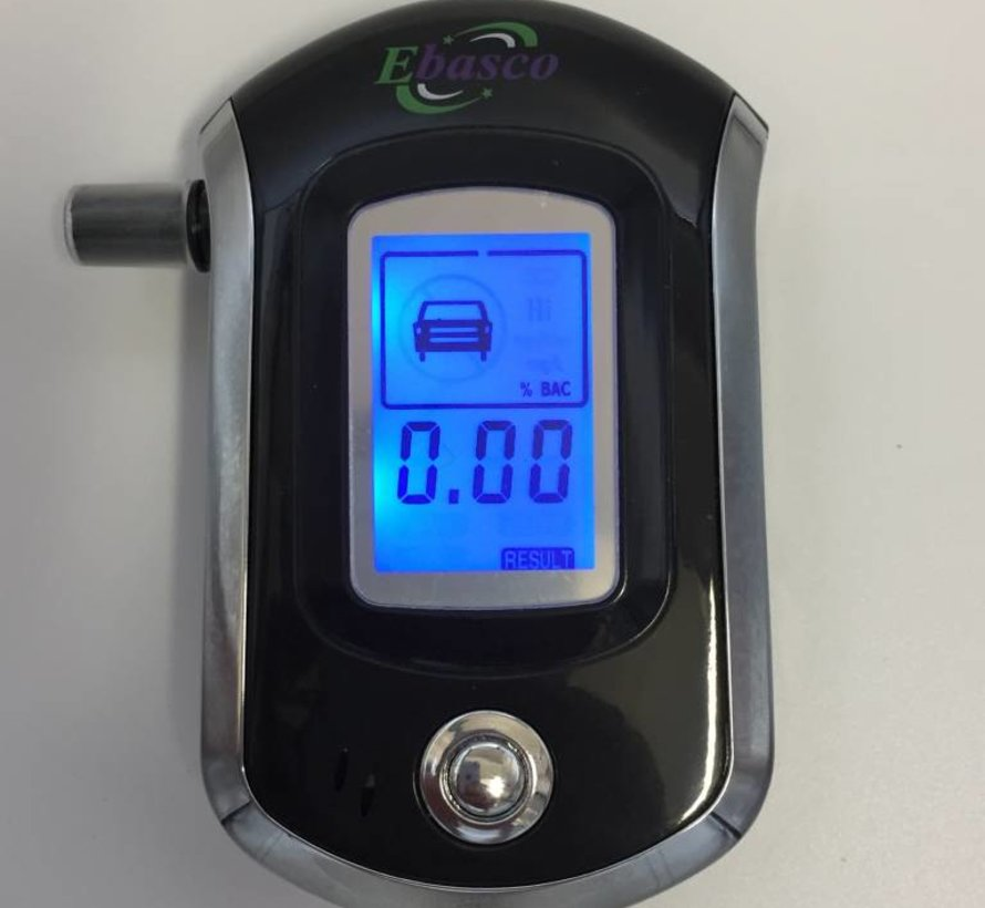 Digitale Alcohol tester LCD display 5 mondstukken