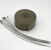 TITANIUM Hitteband Heatwrap uitlaatband 10 Meter