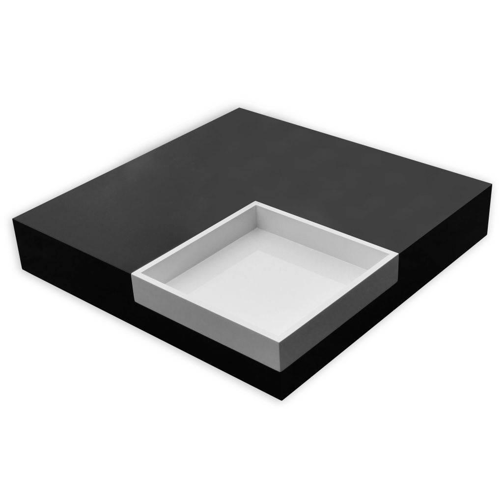 Witte Salontafel Dienblad.Salontafel Vierkant Met Blad Zwart En Wit Wonen31