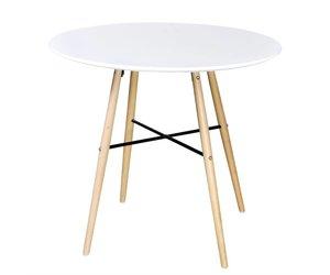 Eettafel rond mdf wit wonen