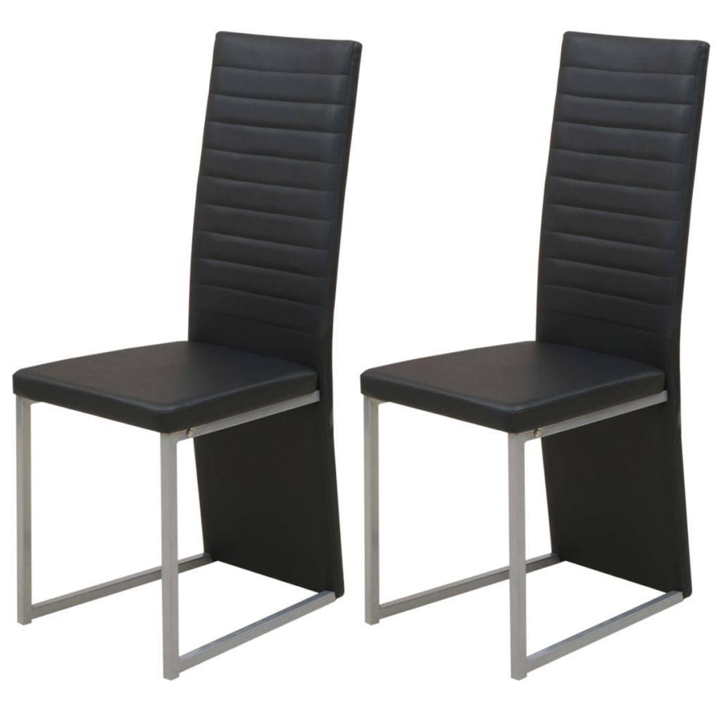 Eettafelstoel Met Leuning.Eetkamerstoel Minimalistische Doorlopende Leuning Zwart 2 St Wonen31