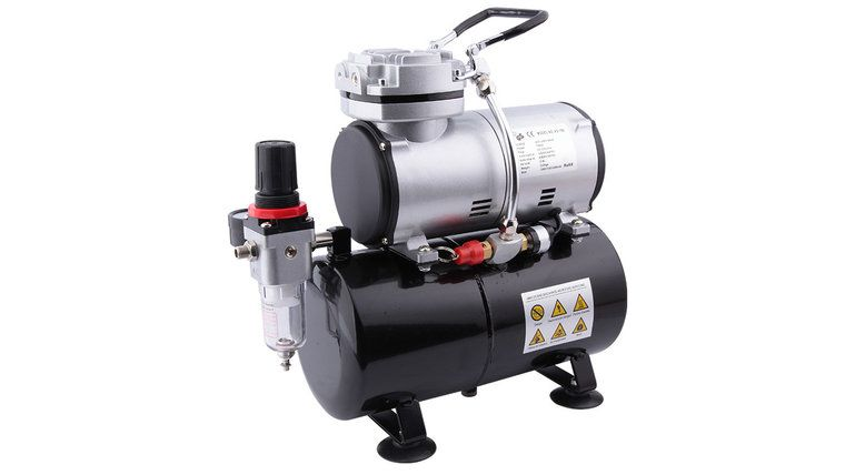 Fengda Airbrush mini compressor with air reservoir Fengda AS-186