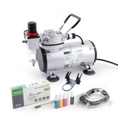 Airbrush Set Fengda AS-18-2K with compressor AS-18, Airbrush BD-130 and accesories