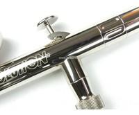 Harder & Steenbeck Harder & Steenbeck set Airbrush Evolution Silverline Solo 0,2 mm met 9 Aero color basiskleuren.