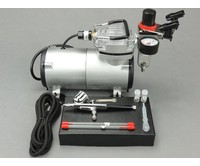 Fengda Fengda airbrush set met 130K airbrush pistool / airbrush compressor