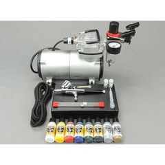 Fengda airbrush kit with 130K airbrush gun / airbrush compressor / Vallejo paint