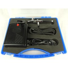 Nail-art airbrush set Fengda BD-831 met compressor en BD-135 0,2mm airbrush pistool