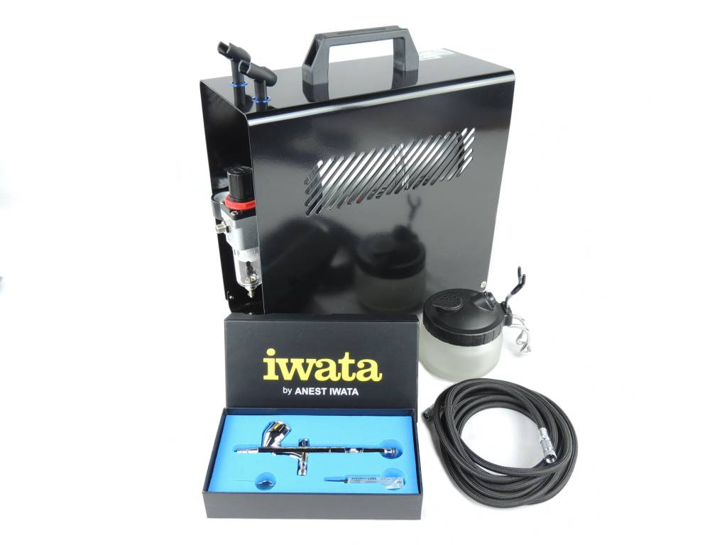 Iwata Iwata HP-CP HI Performance Plus Airbrush Kompressor Set / Double Action / 0,3mm