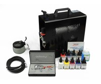 Harder & Steenbeck Harder & Steenbeck set Airbrush Infinity CR Plus 0,2 mm mit 9 Aero color Grundfarbe