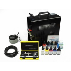Harder & Steenbeck set Airbrush Evolution Two in One 0,2 + 0,4 mm mit 9 Aero color Grundfarbe