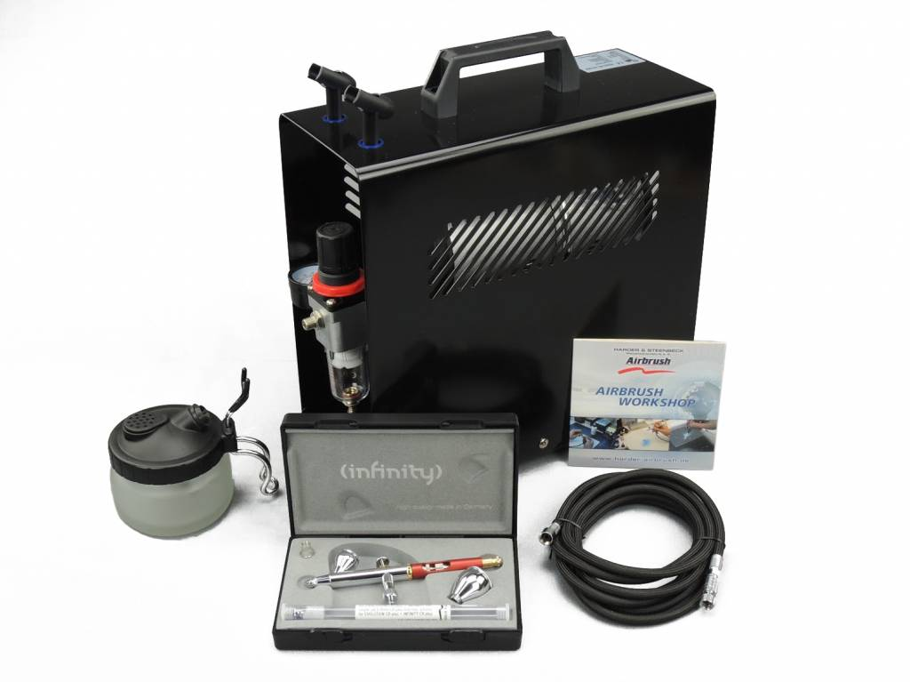 Harder & Steenbeck Harder & Steenbeck set Airbrush Infinity CR Plus Two in One 0,15 + 0,4 mm
