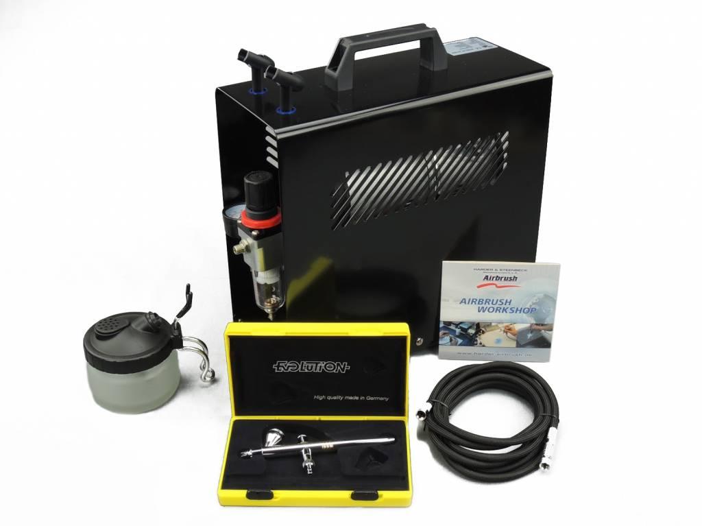 Harder & Steenbeck Harder & Steenbeck set Airbrush Evolution CR plus 0,15mm