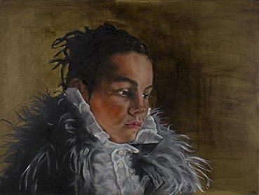 Katrien Kermans Girl with the white collar