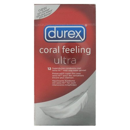 Durex Condooms Durex Coral Feeling Ultra 12st