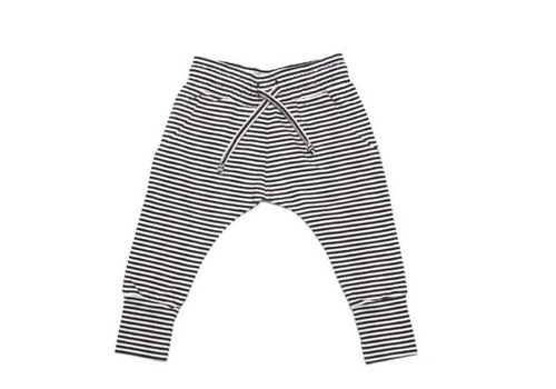 Mingo Mingo Slim fit jogger b/w stripes