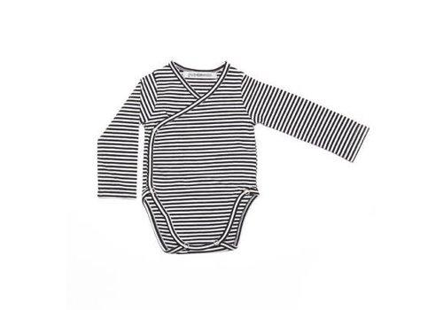 Mingo Mingo Romper b/w stripes