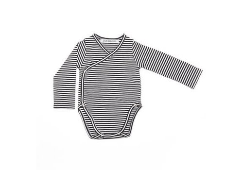 Mingo romper b/w stripes
