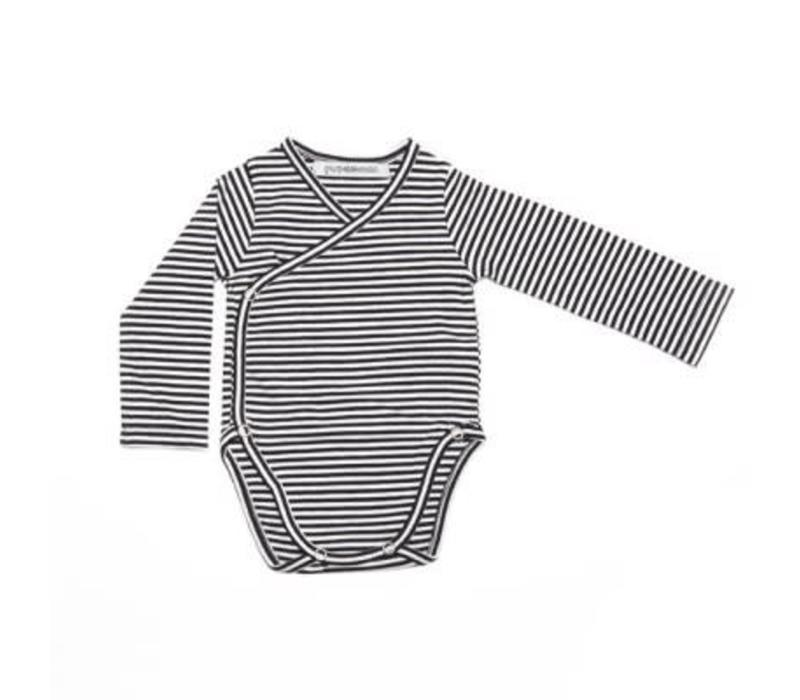 romper b/w stripes