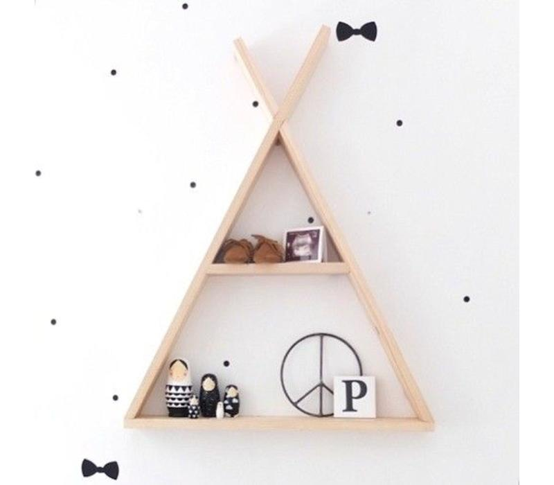 Rock that label tipi shelf