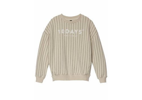 10 Days 10 Days sweater pinstripe bone