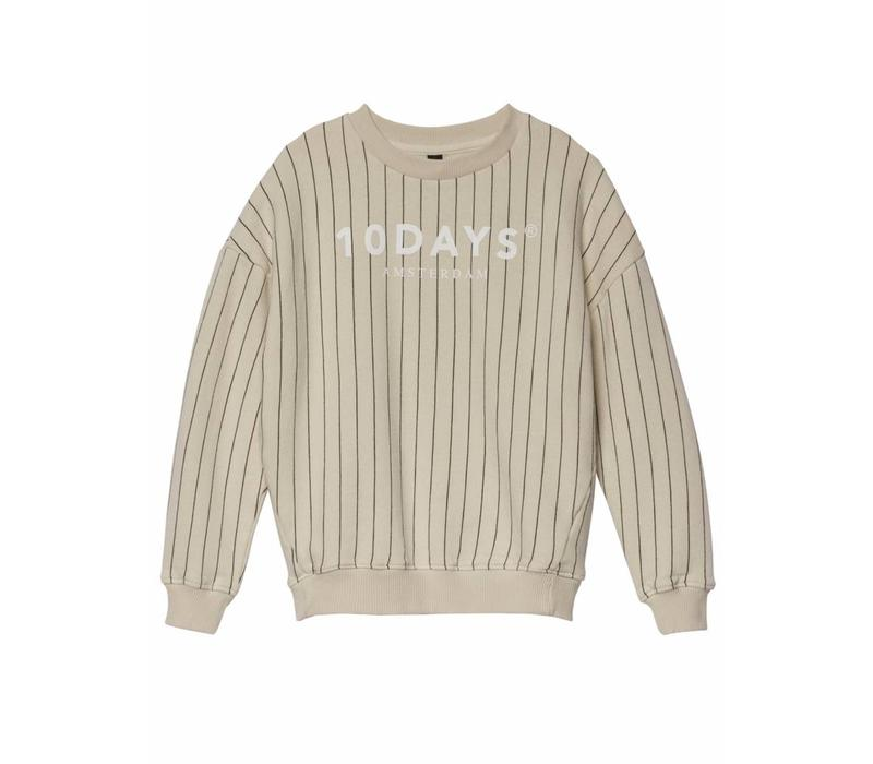 10 Days sweater pinstripe bone