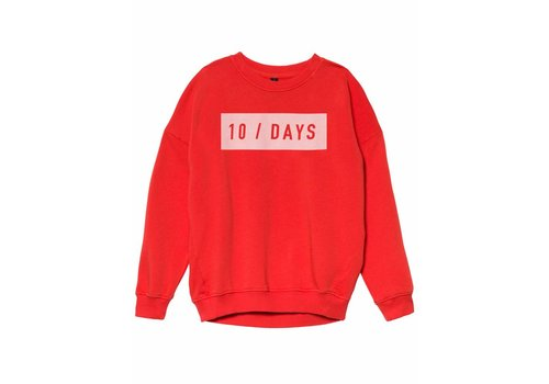10 Days 10 Days oversized sweater fluor red