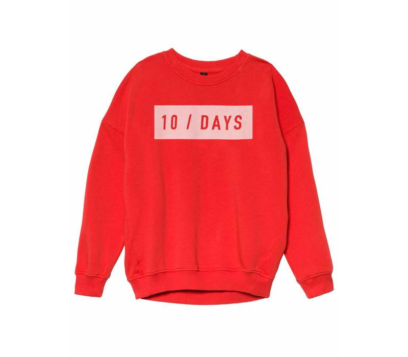 10 Days oversized sweater fluor red