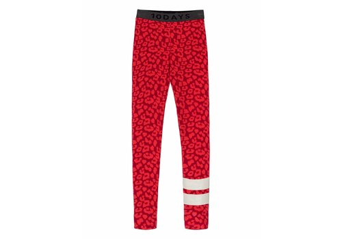 10 Days 10 Days leggings leopard dark red