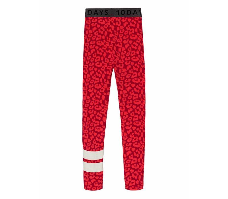 10 Days leggings leopard dark red