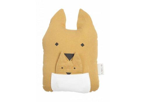 Fabelab Fabelab Animal Cushion - Kangaroo & Joey