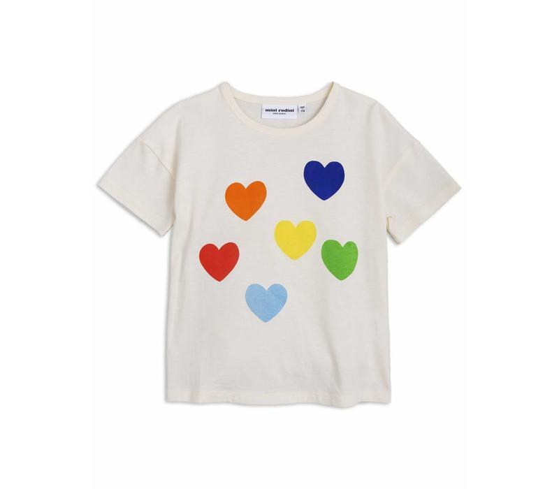 Mini rodini T-shirt rainbow love
