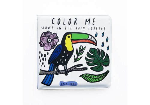 Wee gallery Wee Gallery Bath Book  Color Me Rainforest