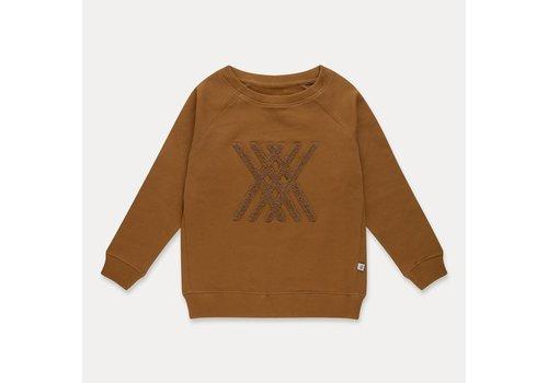 Repose AMS Repose AMS classic sweater golden sun brown logo