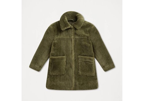 Repose AMS Repose AMS Faux fur coat dusty green