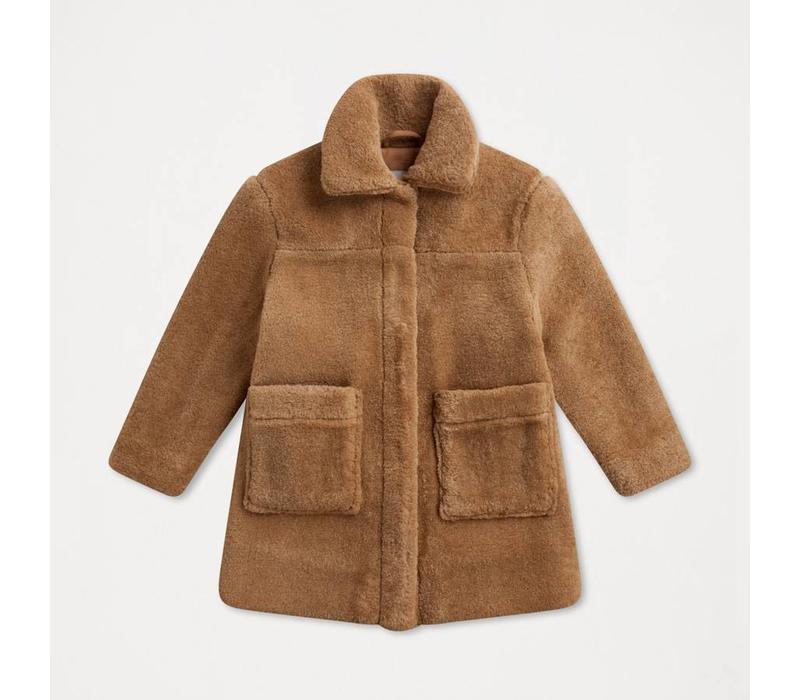 Repose AMS Faux fur coat faded sand