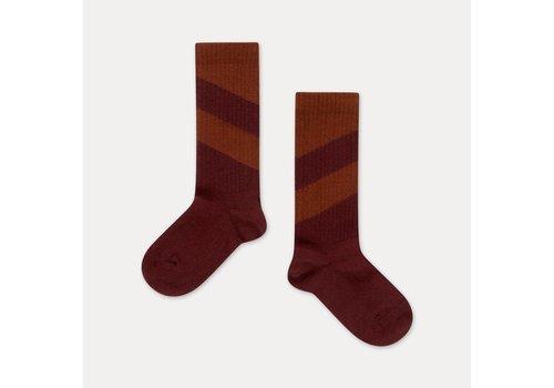 Repose AMS Repose AMS Socks warm berry diagonal