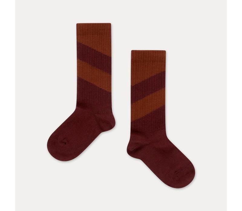 Repose AMS Socks warm berry diagonal
