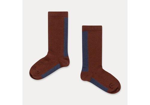 Repose AMS Repose AMS Socks warm pecan stripe