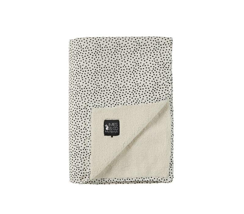 Mies & Co Soft teddy ledikant deken Cozy dots offwhite