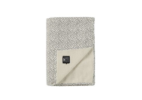 Mies & Co Mies & Co Soft teddy wieg deken cozy dots offwhite